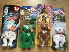 McDonald's Set of 4 Limited Edition Beanies-Country Bears! Sealed!