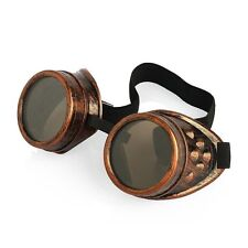 Bronze with Brown Lenses Steampunk style cosplay adults fashion goggles glasses