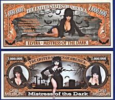 1-Elvira Mistress of the dark Dollar Bill  -Sexy-Novelty  -Fake- MONEY- ITEM L1