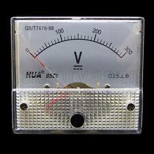 DC 300V Analog Panel Volt Voltage Meter Voltmeter Gauge 85C1 0-300V DC White