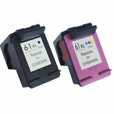 2 pk HP 61XL Black & Color CH563WN CH564WN Remanufactured Ink Cartridges HP61