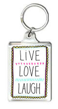 LIVE LOVE LAUGH KEYRING LLAVERO