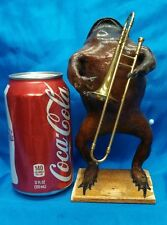 VINTAGE BUDWEISER FROG BAND DISPLAY,SIDESHOW GAFF PROP,ODDITY,TAXIDERMY,OBSCURE,