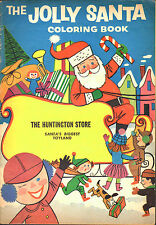 Jolly Santa Coloring Promotional Book The Huntington Store 1956 VG Unmarked