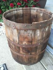 "wood nail keg wooden barrel,Fastenal Co. 1960's shipping container 14 1/4"" tall"