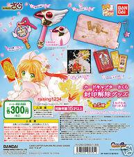 BANDAI Card Captor Sakura Unsealed Goods Gashapon (Set 5 pcs)
