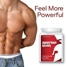 SPARTAN HEALTH TESTOSTERONE BOOSTER PILLS TABLETS MASCULINE FEEL POWERFUL