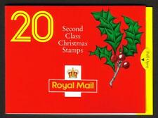 GB 1991 LX2 CHRISTMAS - 20 X 2ND CLASS BARCODE BOOKLET
