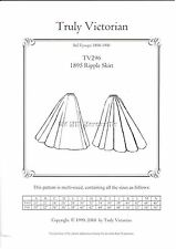 Sewing pattern for Truly Victorian TV296 1895 Victorian style ripple skirt
