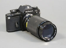 Nikon EM 35mm SLR Film Camera with an 80-200 Macro Zoom Lens - Working