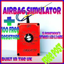 AIRBAG diagnostic KIT + 100 free resistors Recaro seat light bypass reset mot