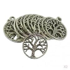 60Pcs Wholesale Lot Tibetan Silver Tree of Life Pendants Charms DIY Necklace