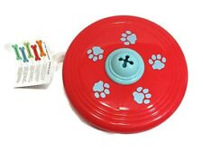 Martha Stewart Dog Toy Frisbie Fitness and Fetch Frisball Flyer Red Pet New