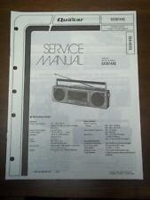 Quasar Service Manual for Model GX3614XQ Radio Stereo Cassette Player~Boombox