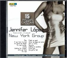 JENNIFER LOPEZ - 15 Pistas Para Cantar Como - CD 2003 - Playbacks - Libreto