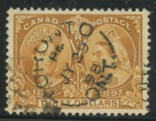 Canada 1897 QV Jubilee $3.00 bistre #63 VF SON spilt ring cancel