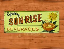 "TIN-UPS TIN SIGN ""Sun-Rise Beverages"" Cola Coke Soda Advertisement Wall Decor"