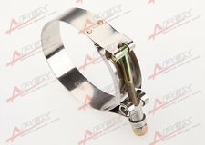 """3.5""""inch Turbo Pipe Hose Coupler T-bolt Clamp Stainless Steel 92/100mm"""