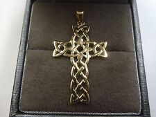 New 9ct Solid Gold Celtic Design Cross Pendant 1.1 grams * Fully Hallmarked *