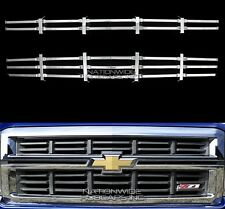 14-15 Chevy Silverado 1500 Z71 CHROME Snap On Grille Overlay Grill Cover Inserts