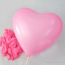 "10-250pc 12"" 10 Color Heart Shape Latex Balloons Wedding Party Decoration Helium"