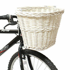 PEDALPRO WHITE WICKER BICYCLE SHOPPING BASKET CARRY HANDLE BIKE/CYCLE HANDLEBAR