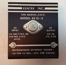 XENTEK INC POWER SUPPLY XE15-5  115/230 VAC 5/6VDC
