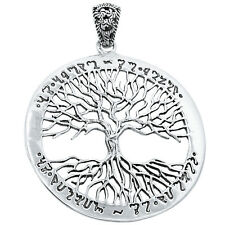 Tree of Life 925 Sterling Silver Pendant Plain Design Jewelry AAASPJ2065