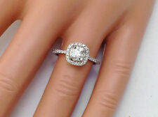 1.05Ct Genuine Natural Round Diamond Engagement Ring In Solid 14K White Gold