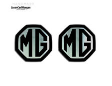 MG ZS ZR MGF LE500 MK1 Compatible Front & Rear Insert Badge 59mm Black/Chrome