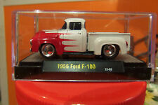 1956 Ford Car F 100 56 Truck Pearl White Red Flames, Mags, Display Case & More