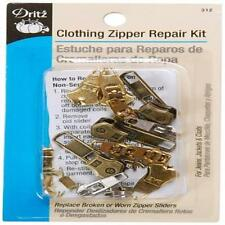 Dritz Zipper Repair Kit-Clothing For Jeans Jackets & Coats Replace Broken Or Wo