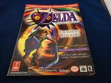 The Legend of Zelda Majora's Mask N64 Strategy Guide Player's Hint Book +Sticker