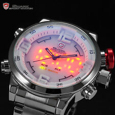 Shark LED Digital Date Day Alarm Men Quartz Army Military Sport Wrist Watch
