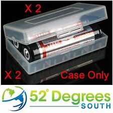 18650 Clear Plastic Battery Case x 2   Free UK Shipping