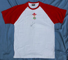 WALES SEVENS RUGBY PLAYERS T-SHIRT, WAYNE EVANS by KARIBAN SIZE L