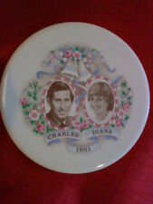 PRINCESS DIANA 1981 ROYAL WEDDING TEA POT STAND CORK BACK PRINCE CHARLES RARE VG