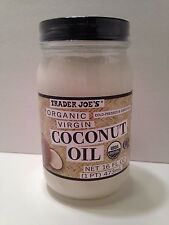 Trader Joe's Organic Virgin Coconut Oil Cold Pressed & Unrefined 16 fl oz Jar