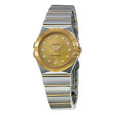 Omega Constellation Stainless Steel and Yellow Gold Ladies Watch 12320276058002
