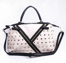Gorgeous Betsey Johnson Satchel Handbag Diamond Studded