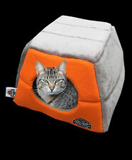 Cat Kitten Cave, Puppy Dog, Pet Igloo, Cat Basket, Pet Mat, Hidey Hole - Orange