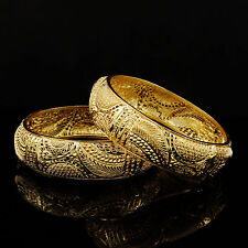 Indian Traditional 18K Goldplated Bracelets Bangles Set Bridal Jewelry 2*12 5574