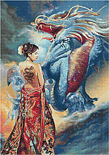 Oriental Lady & Dragon 14 Count Cross Stitch Kit