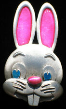 JJ PEWTER SPRING HAPPY EASTER BUGS BUNNY TEETH CUTE RABBIT PIN BROOCH JEWELRY