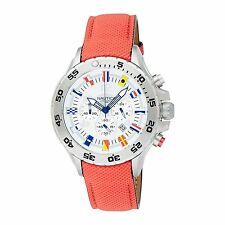 Nautica Men's A24515G Sailing Yachting Nautical Flags Chronograph Red Band Watch