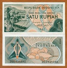 Indonesia, 1 Rupiah, 1961, P-78, UNC   Farm Workers