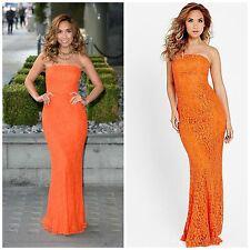 BNWT Myleene Klass Orange Lace Bandeau Evening Occasion Maxi Dress Size 10 NEW