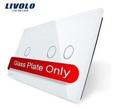 2 Fach Glas Abdeckung für Touch Lichtschalter Livolo Weiß Kristall Glas 1 G + 2G