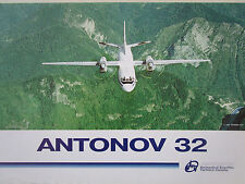 DOCUMENT 1 PAGE RECTO VERSO ANTONOV AN-32  MULTIPURPOSE TRANSPORT AIRCRAFT