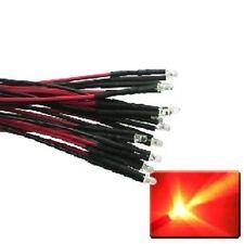 10 Stück (mit Vorwiderstand) verkabelte  rote Blink-LEDs für 12V